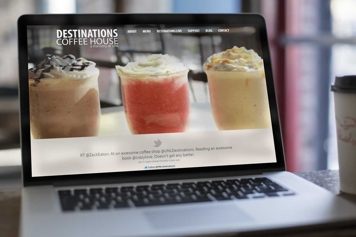 Destinations Coffee House web design